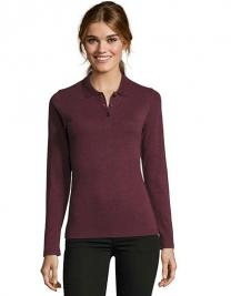 Women`s Long-Sleeve Piqué Polo Shirt Perfect