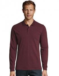 Men`s Long-Sleeve Piqué Polo Shirt Perfect